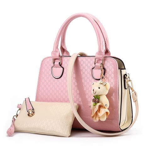 Gg077 Tas Fashion Tas Import Handbag Import Tas Paket 2in1 mh ld07 tas fashion handbag import wanita office bag tas kantor colorpop teddy bag charm