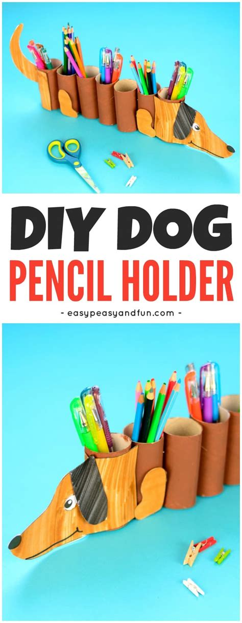 tissue roll holder dog paper roll pencil holder easy peasy and fun