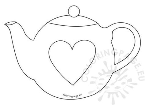 s day teapot card template and big cup coloring page