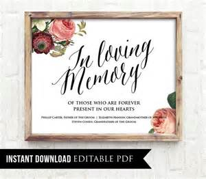in loving memory templates 50 in loving memory wedding sign template editable