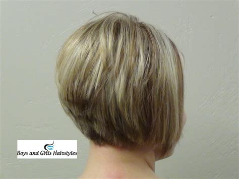photos of an a line stacked haircut front and back view of medium haircuts 2013