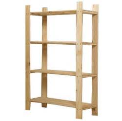 storage organization 4 tier sanded pine wood shelving