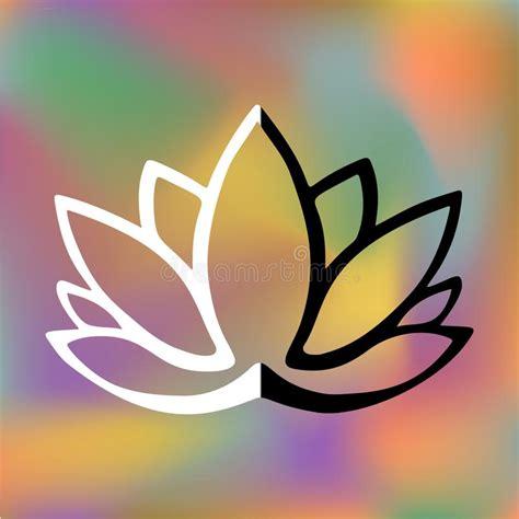 fiore di loto stilizzato tatuaggio logo stilizzato fiore di loto su fondo vago luminoso