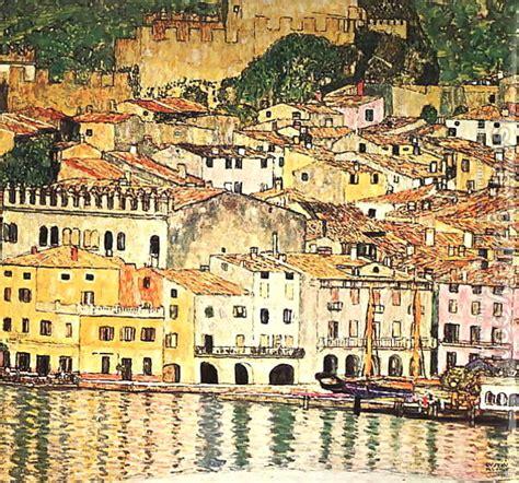 festival painting lago di garda malcesine on lake garda 1913 gustav klimt wikiart org
