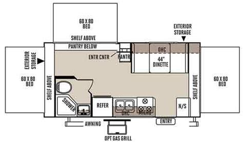 rockwood roo floor plans rockwood roo expandable travel trailer