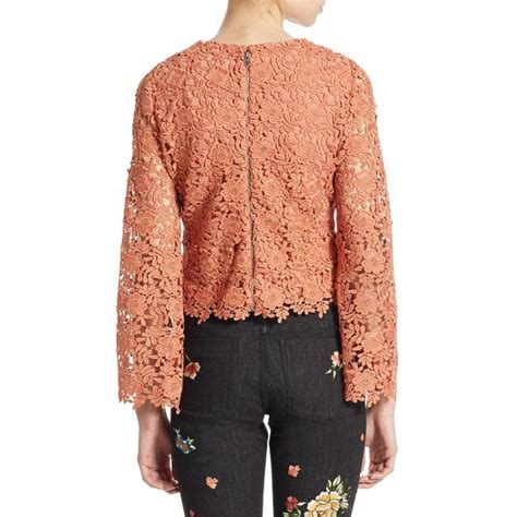 Lace Bell Sleeve Blouse pasha bell sleeve lace blouse evachic