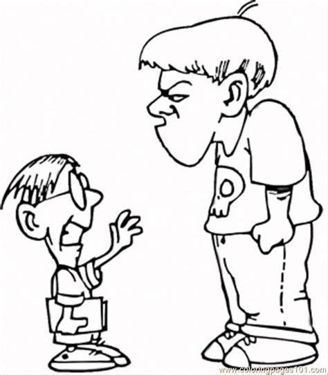 free coloring pages of no bullying zone