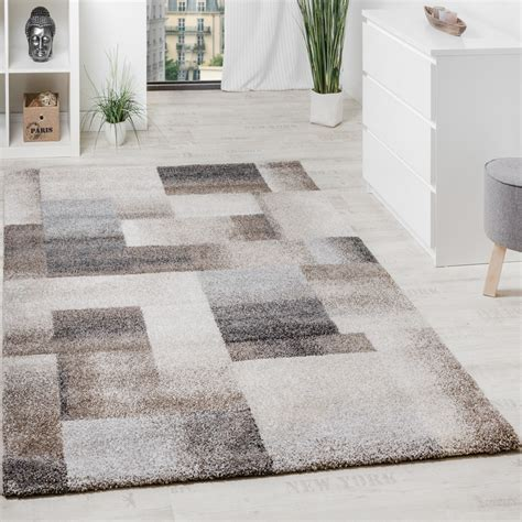 Teppiche 140x200 by Woven Carpet Modern High Quality Mottled Chequered In