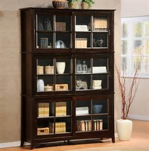 Cherry Wood Bookcase With Doors Cherry Wood Bookcase With Glass Doors Design Interior Home Decor