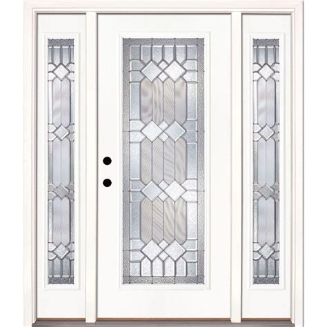 Home Depot Entry Doors With Sidelights feather river doors 63 5 in x 81 625 in mission pointe zinc lite unfinished smooth