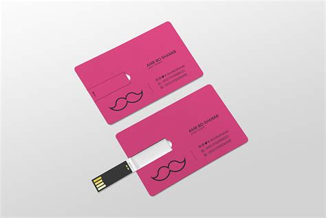 drive business card template usb business card mockup psd at downloadmockup