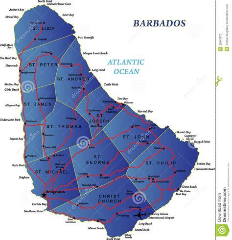 printable barbados road map barbados map stock photo image 22847870