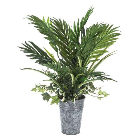 palm leaves  galvanized pot hobby lobby