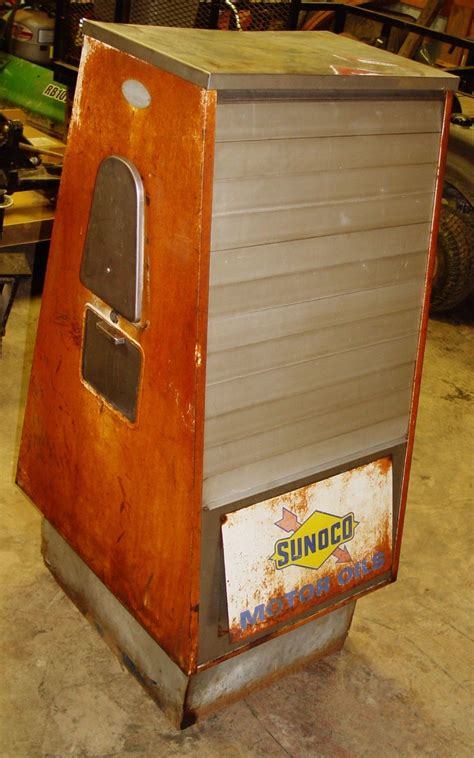 gas display cabinet sunoco seloil display service cabinet antique gas