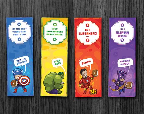 printable bookmarks superheroes phorest studio 187 superhero bookmarks