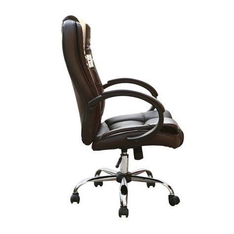 Brown Faux Leather Luxury Swivel Executive Computer Office Luxury Swivel Chair