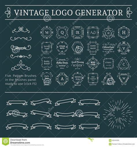pattern svg generator vintage logo generator stock vector image of brush