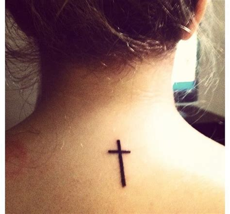 thin cross tattoos on back my image sense word