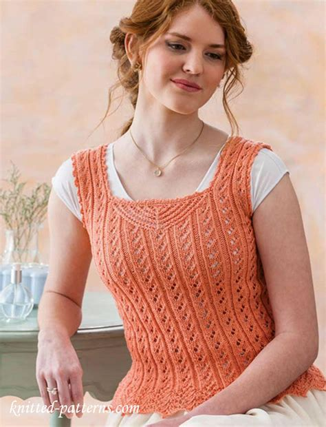 top knitting websites lace camisole knitting pattern