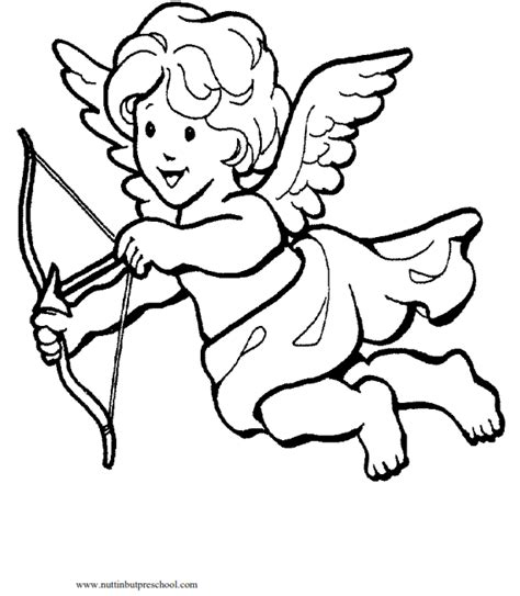 cupid coloring pages cupid coloring page nuttin but preschool