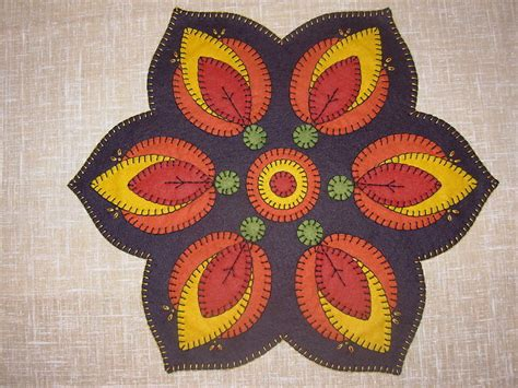 wool rug patterns fireside tablemat rug pattern 17 quot dia wool felt embroidery ebay