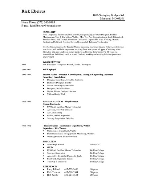 tool and die maker resume exles resume for tool and die maker resume ideas