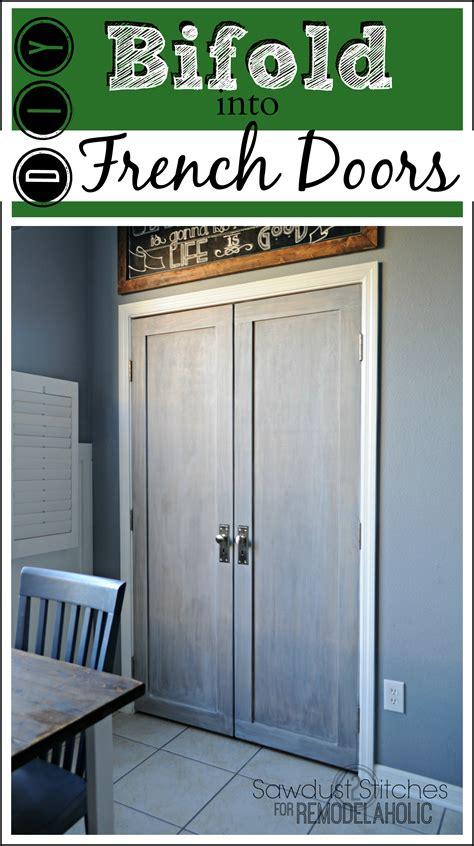 How To Adjust Closet Doors Remodelaholic Bifold Door Makeover Into Doors