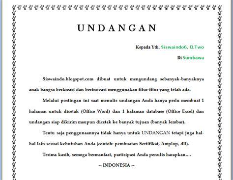 template undangan haji ms word contoh undangan tasyakuran haji word contoh isi undangan