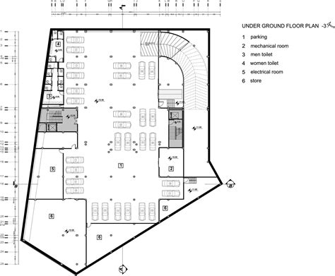 underground floor plans gallery of imam reza complex kalout architect studio 13