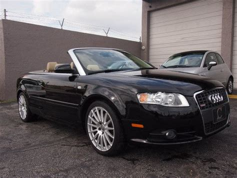 Audi A4 Door by Sell Used 2009 Audi A4 Cabriolet Convertible 2 Door 2 0l