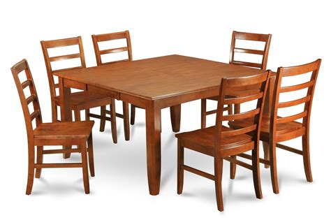 Wood Dining Table And 6 Chairs Parfait 7 Pc 54 215 54 Dining Table 6 Wood Seat Chairs In Black Brown Dining Decorate