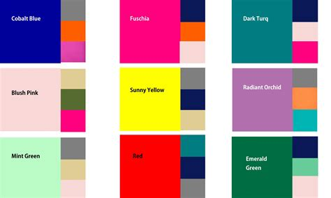 good color pairs 100 good color pairs color combo chart for spectrum