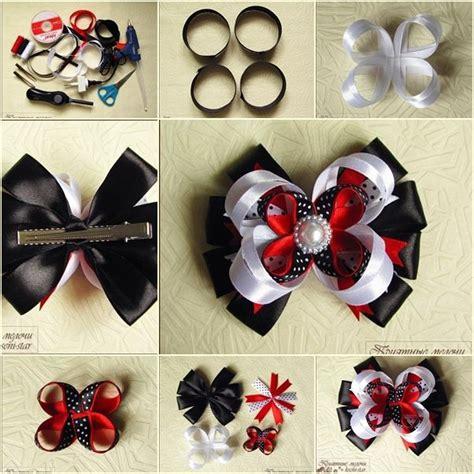 ribbon hair accessories instruction diy beautiful satin ribbon hair clip tutorial and