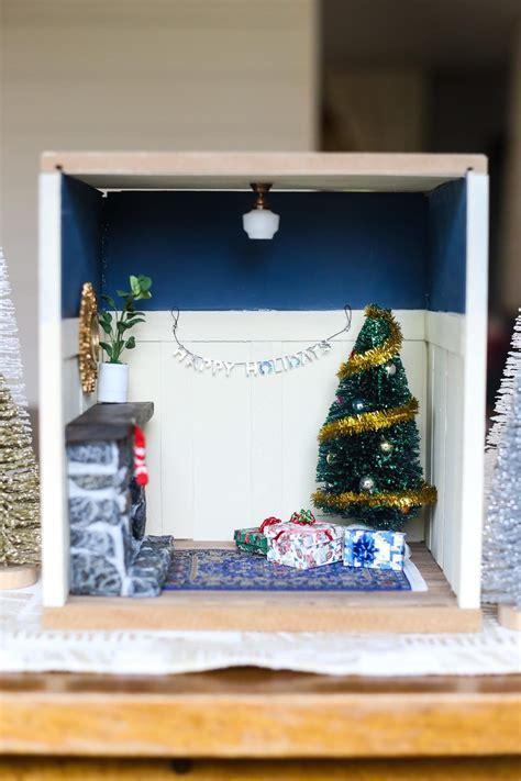 studio b miniatures vignettes christmas room 1 diy miniature christmas vignette love renovations