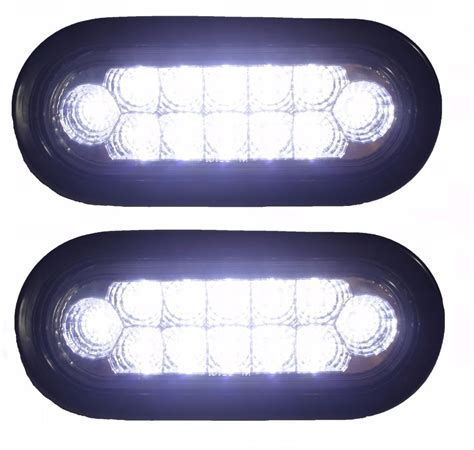 6 oval led lights 6 quot oval truck bright backup lights led s pair of lights rv