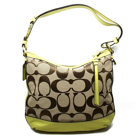 coach swing bag coach park signature duffle bag swing bag chartreuse