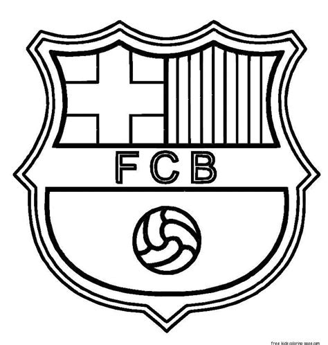 mobile fc barcelona logo coloring pages coloring pages