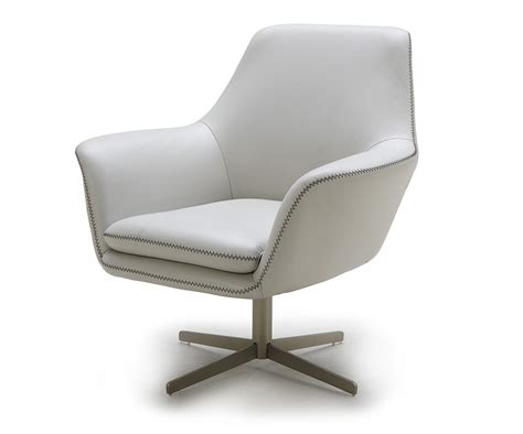 Poli Grey Modern Leather Swivel Lounge Chair Swivel Chair