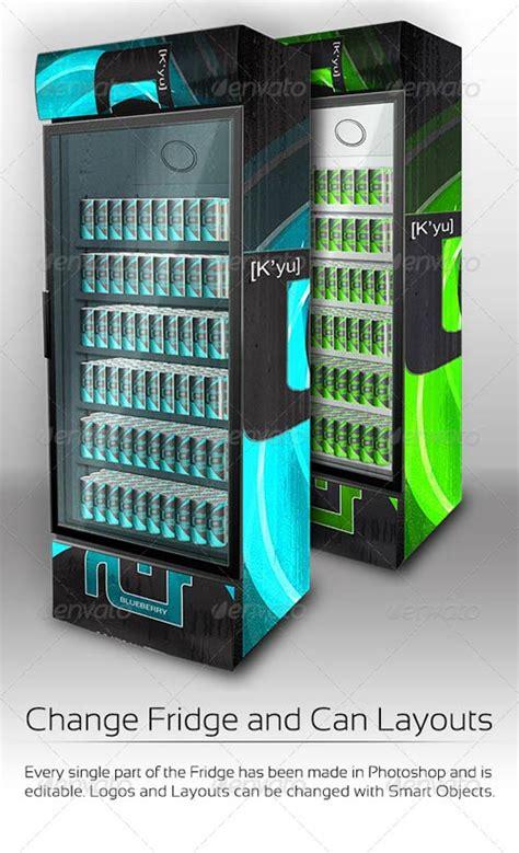 energy drink fridge graphicriver xl fridge mockup with energy drink soda cans