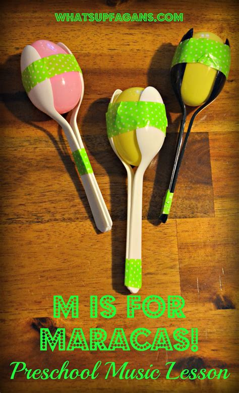 musical instruments crafts for letter m activities for preschool m is for lesson