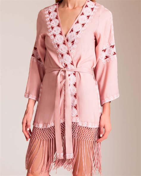 Dress Kaftan Dusty Pink lyst odabash kara kaftan in pink