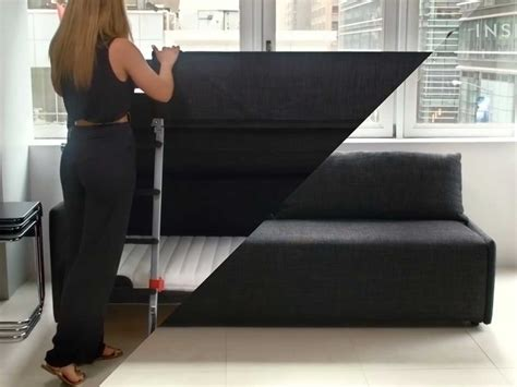 sofa that turns into a bed bunk bed that turns into ideas