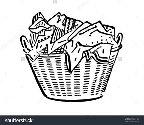 laundry clip laundry basket clipart black and white clipground