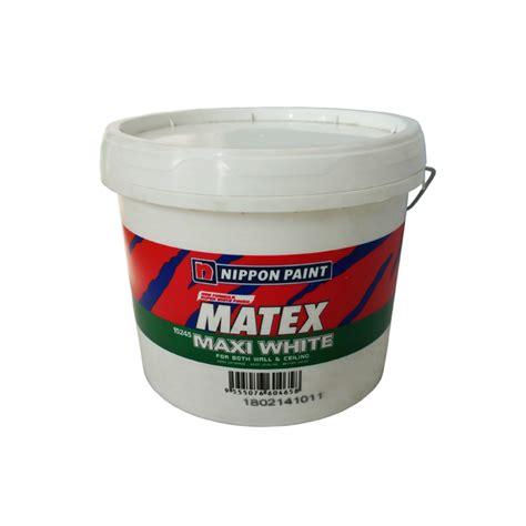 Maxi White nippon paint matex maxi white 15245 18l