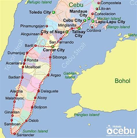map  cebu province  travel information