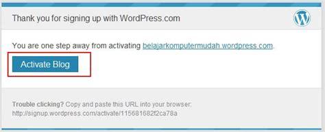 membuat blog percuma tutorial membuat blog percuma di wordpress com zulpress
