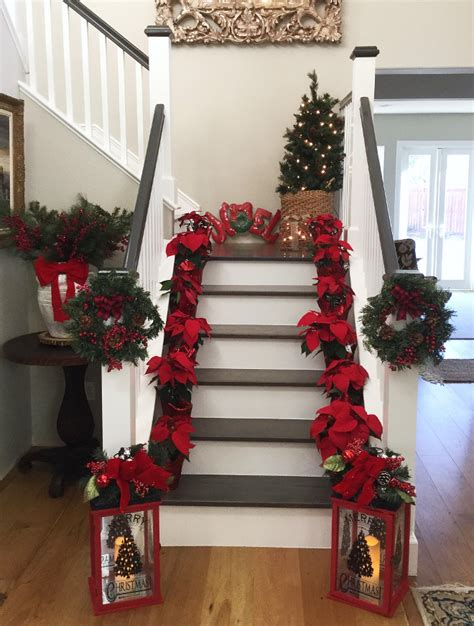 christmas poinsettias decor www imgkid com the image
