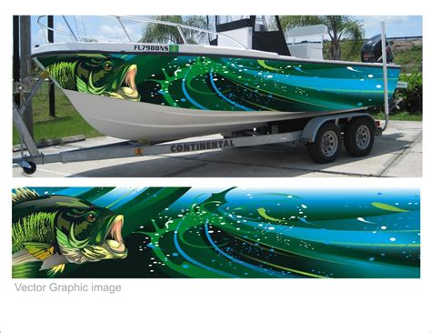 fishing boat graphics and wraps digital quot wrap quot for fishing boat graphics freelancer