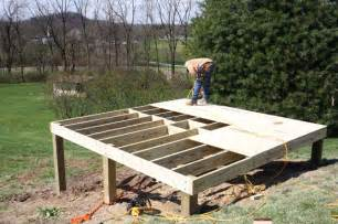 The easiest way of building a shed foundation with your own hands