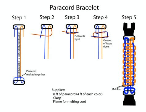 printable braiding instructions paracord bracelet instructions paracord bracelet
